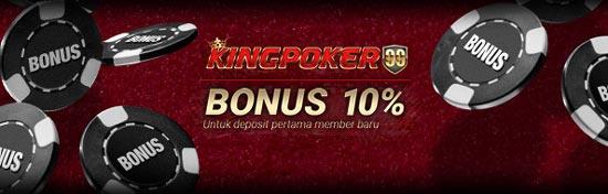 Bonus New Member Kingpoker99